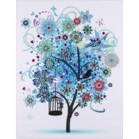 PZ 303056 Диамантен гоблен - Малко дърво