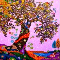 Диамантен гоблен - Шарено дърво