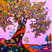 PZ 303033  Диамантен гоблен - Шарено дърво