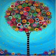Диамантен гоблен - Шарено дърво 2