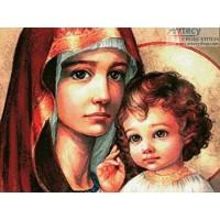 IK 0005 Диамантен гоблен Дева Мария с младенеца