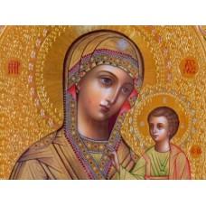 Дева Мария с младенеца - диамантен гоблен IK 34122