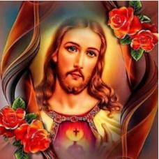Исус с рози- Диамантен гоблен IK 40403
