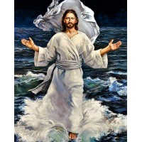 ИСУС ХОДИ ПО ВОДА - Диамантен гоблен IK 40507