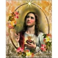 СВЕЩЕНО СЪРЦЕ НА ИСУС - Диамантен гоблен IK 40508