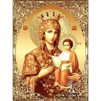 IK 304022 Диамантен гоблен- Икона на Божията майка златна