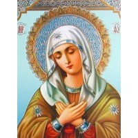 IK 304025  Диамантен гоблен -Чудотворна икона - Света Богородица - Умиление