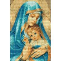 203011 ДИАМАНТЕНИ ГОБЛЕНИ-Мария с младенеца