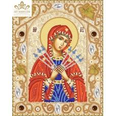 Комплект за бродиране с мъниста -Пресвета Богородица Седмострелна НИК- 5310