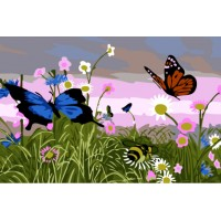 Картинаа по номера -Пеперудки