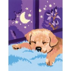 Налични след 5 юни!  комплект за рисуване по номера  Кученце CX3007