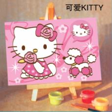 Хелоу Кити Комплект за рисуване по номера C 206
