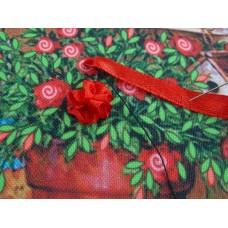 Бродерия с панделка: подбрано цвете