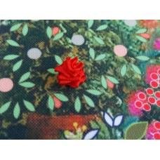 Бродерия с панделка: малка роза