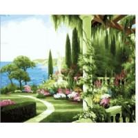 Диамантен гоблен Лятна градина
