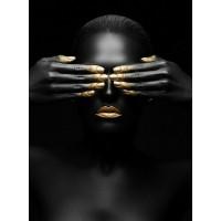 Комплект за рисуване по номера. Черно и Златно – GX 36911