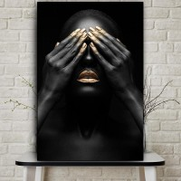 Комплект за рисуване по номера. Черно и Златно – GX 36910