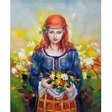 Момиче с цветя-GX 37963
