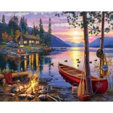 Вечер на езеро GX 28354 Комплект за рисуване по номера