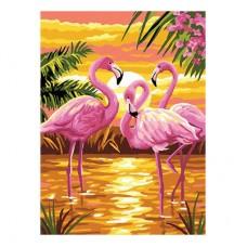 GI 304086  Диамантен гоблен - Розово фламинго