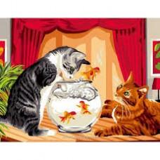 Котка и рибка  EX 6117