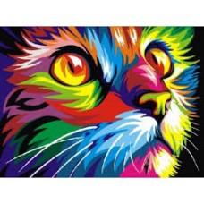 Комплект за рисуване по номера. Шарена котка– EX 5290