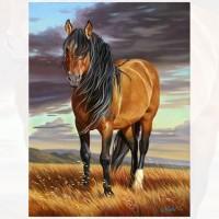 GI 304088  Диамантен гоблен - Великолепният кон