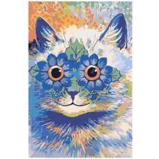 Картина по номера - Котенце с цветя ZE-3137