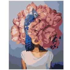 Картина по номера - Момиченце с пиони ZG-227