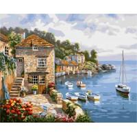 Комплект за рисуване по номера. Лодки в морето – G 296