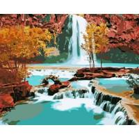 Комплект за рисуване по номера. Водопад – GX 7253