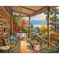 Комплект за рисуване по номера. Планинска тераса– GX 4816