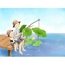 Картина по номера - Рибари ZE 3031