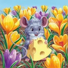 Картина по номера - Малка мишка ZE 3063