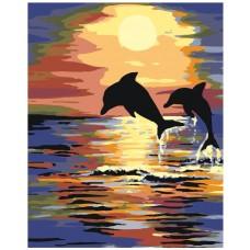 Картина по номера -  Делфини  ZG-0003