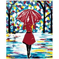 Картина по номера -  Момиче и дъжд ZG-0013
