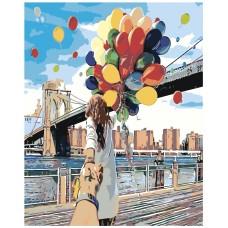 Картина по номера -   Балони ZG-0021