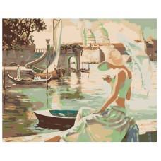 Картина по номера - Момиче на брега ZG-0028