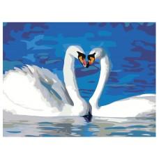 Картина по номера - Лебеди ZE-3098