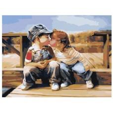 Картина по номера - Деца ZE-3099