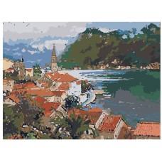 Картина по номера - Морски град ZE-3123