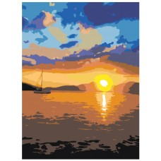 Картина по номера - Залез в морето ZE-3127