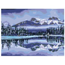 Картина по номера - Зима в планината ZE-3129