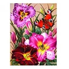 FL 304070 Пеперуда и букет - Диамантен гоблен
