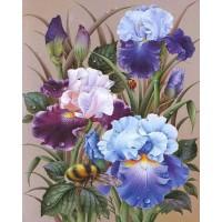 FL 304072 Пчела и цветя - Диамантен гоблен