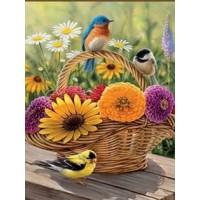 FL 304076 Птици и цветя - Диамантен гоблен