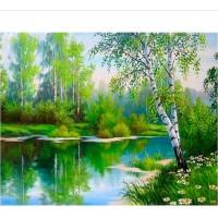 PZ 304104 диамантен гоблен - Брезови дървета
