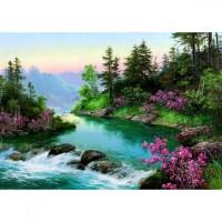 PZ 304110 диамантен гоблен - Планинска река