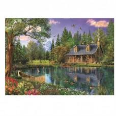 PZ 304113 диамантен гоблен - Къща в гората