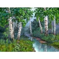 PZ 304115 диамантен гоблен - Брезови дървета